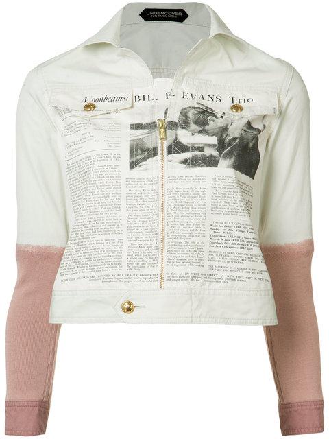 newspaper print jacket