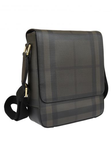 BURBERRY Checked Shoulder Bag in Chocolate/Black