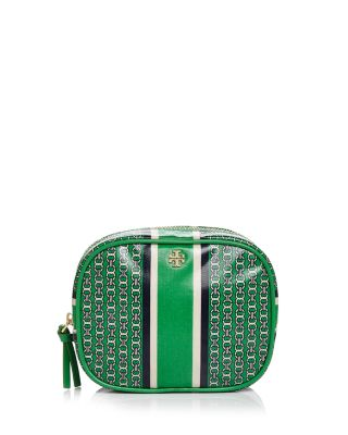 GEMINI LINK ROUND COSMETIC BAG, COURT GREEN