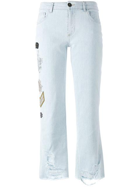 EMBELLISHED MULTI-PATCH JEANS