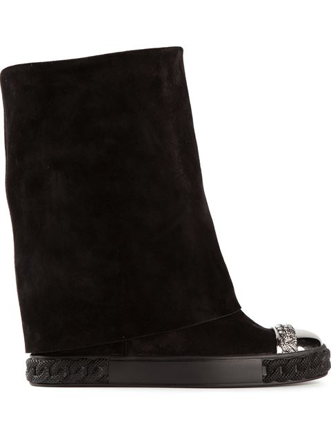 Fold-Over Mid-Calf Boots