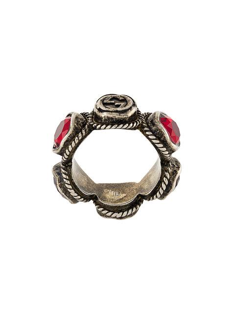 GUCCI Crystal Embellished Ring