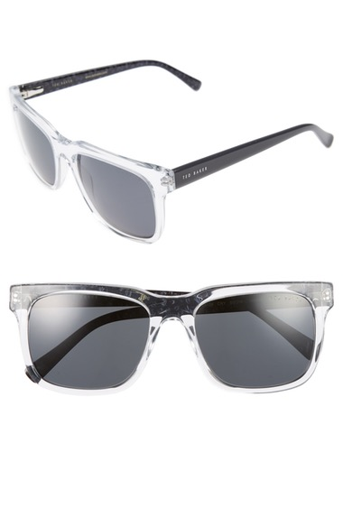 TED BAKER 55Mm Polarized Sunglasses in Crystal