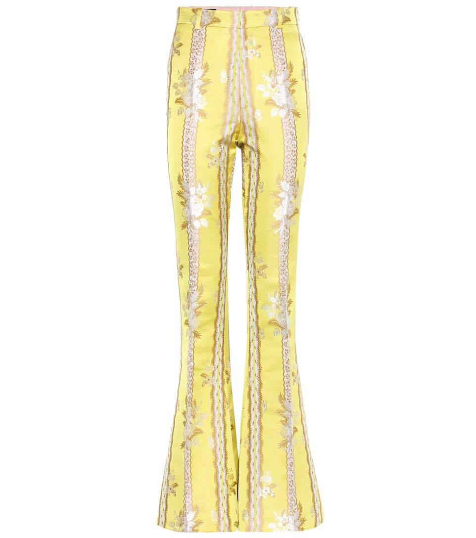 GUCCI Silk And Cotton Flared Trousers