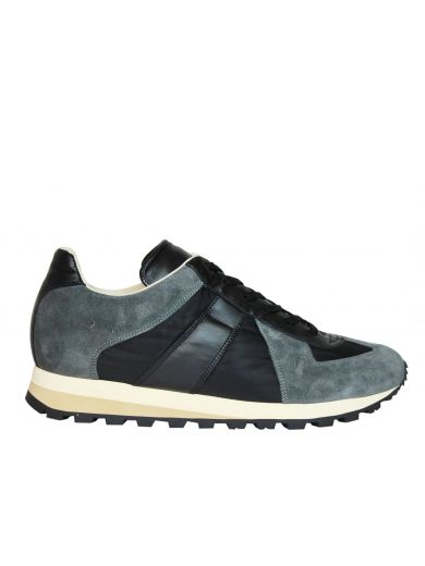 MAISON MARTIN MARGIELA Black Grey Retro Runner Low Sneakers