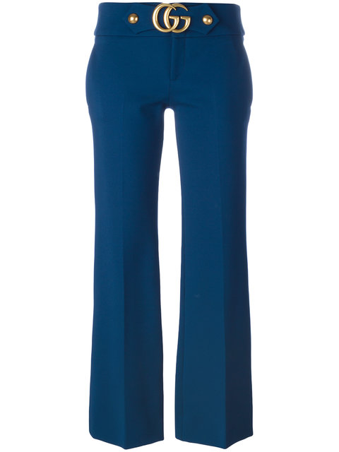 GUCCI Flared Gg Cropped Trousers