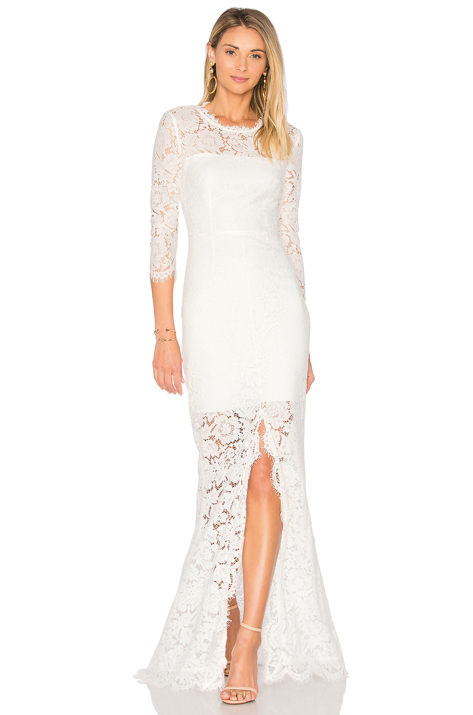 RACHEL ZOE ALL OVER LACE GOWN, WHITE | ModeSens