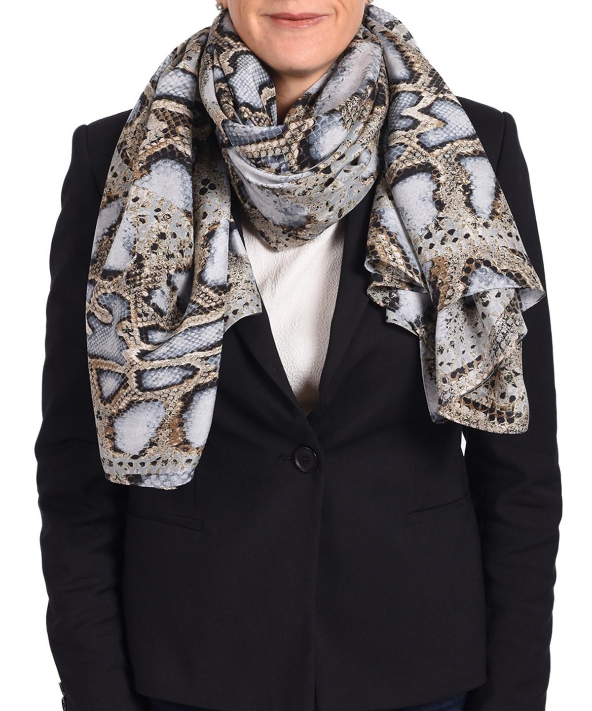ROBERTO CAVALLI Women'S Snake Skin Patterned Silk Scarf' in Multiple Colors