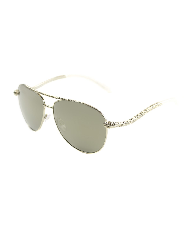 ROBERTO CAVALLI Pilot Metal Sunglasses' in Shiny Rose Gold
