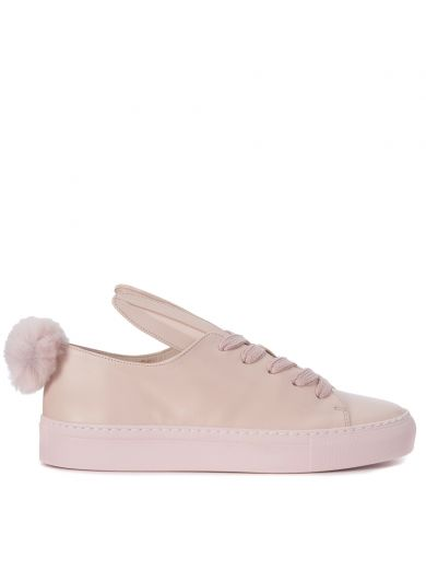 MINNA PARIKKA Tail Sneaks Pink Leather Sneaker in Rosa