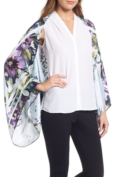 TED BAKER Elva Enchantment Cape Scarf