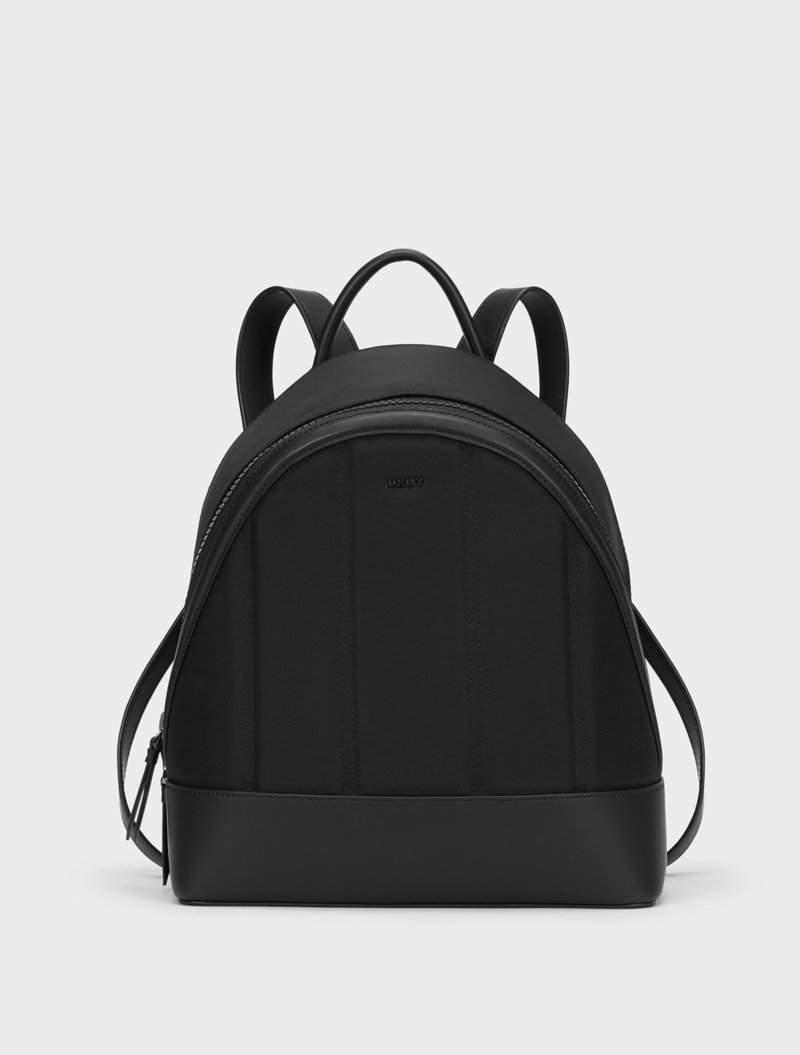 DKNY Mini Nylon Backpack With Leather Trim