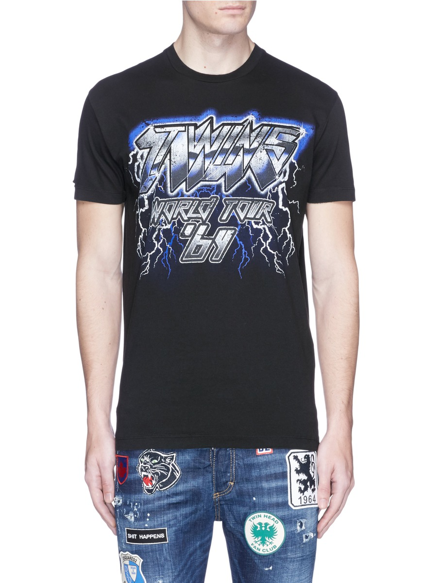 DSQUARED2 Twins World Tour' Print T-Shirt