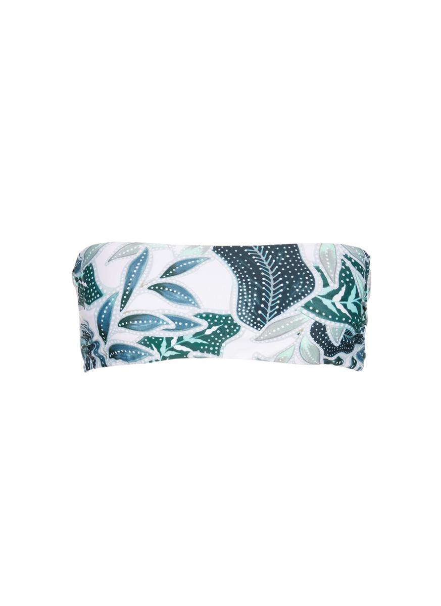 MARA HOFFMAN Sea Tree Print Bandeau Swim Top