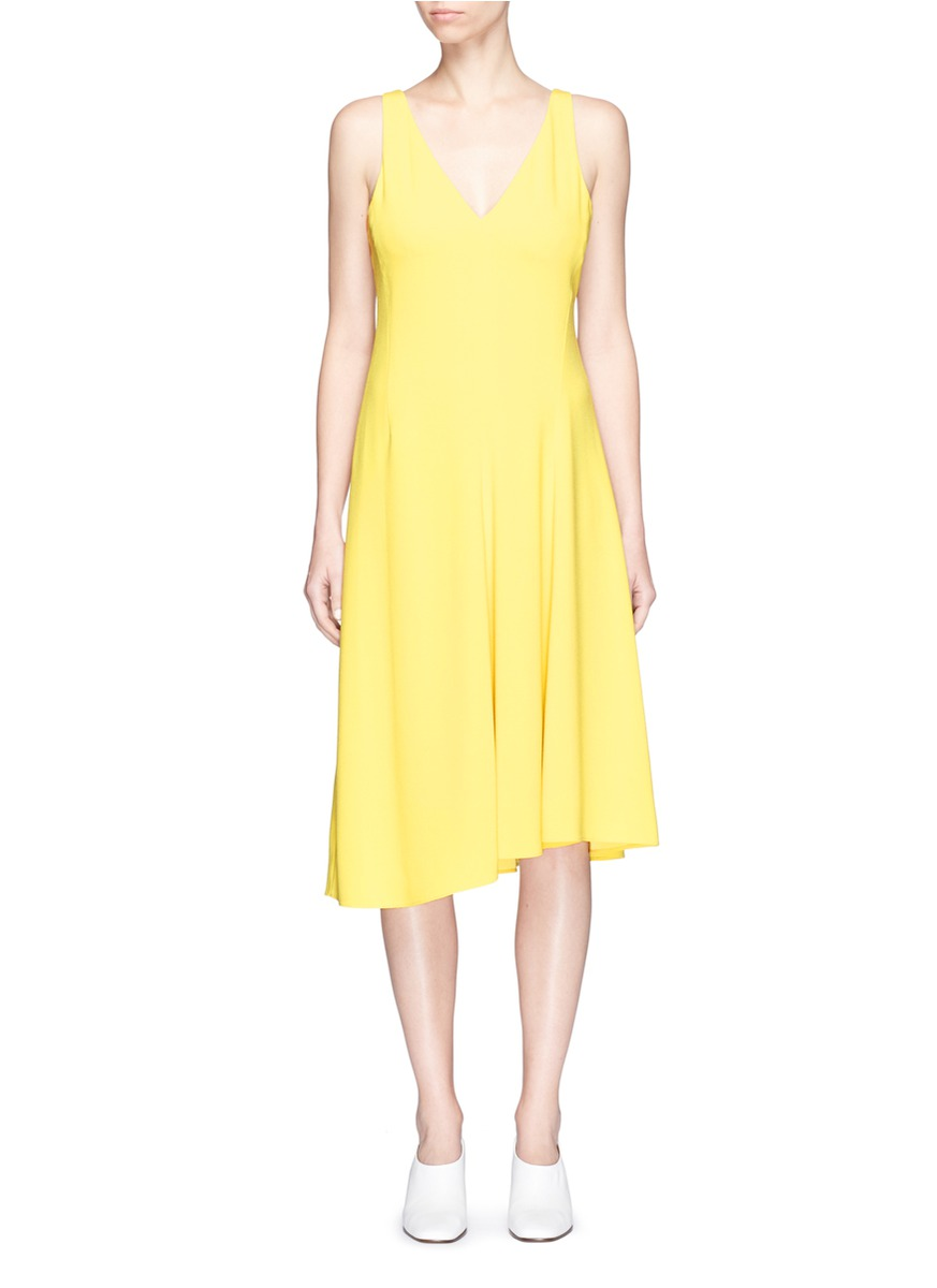 THEORY 'Tadayon B' Asymmetric Hem Crepe Dress