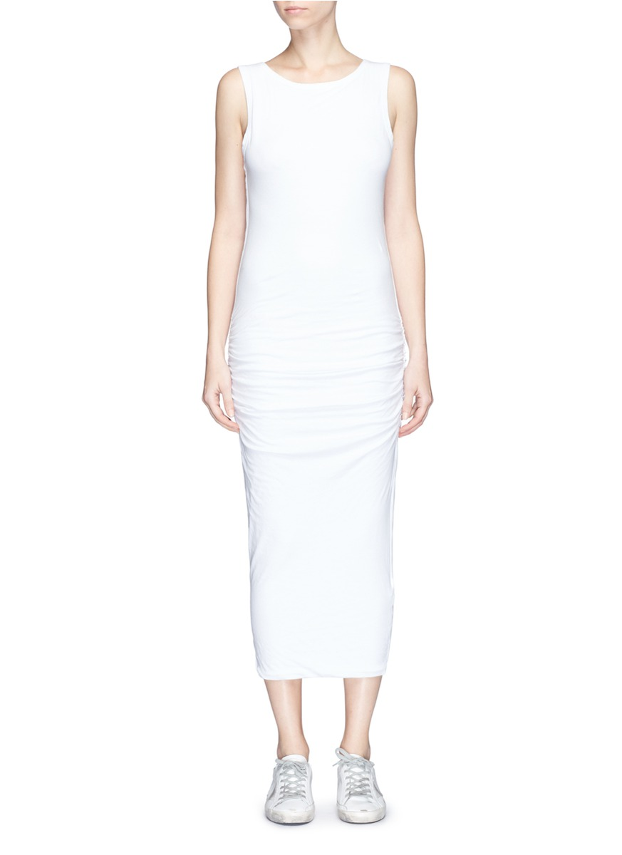 JAMES PERSE 'Skinny Tank' Ruched Side Jersey Dress
