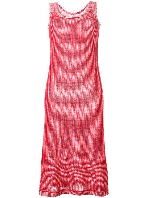 MAISON MARTIN MARGIELA Frayed Edge Knitted Dress