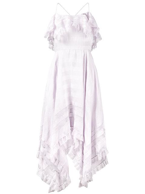 PHILOSOPHY DI LORENZO SERAFINI Frilled Asymmetrical Dress