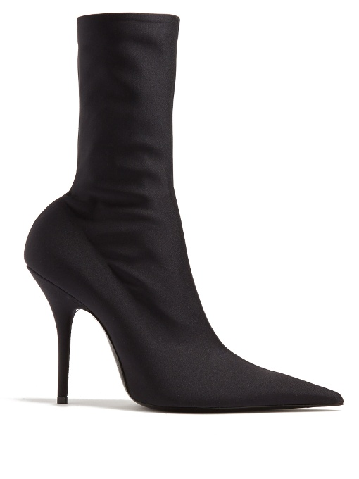 SOCK-STYLE STRETCH-JERSEY ANKLE BOOTS