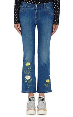 Stella Mccartney Denims Embellished Flared Jeans