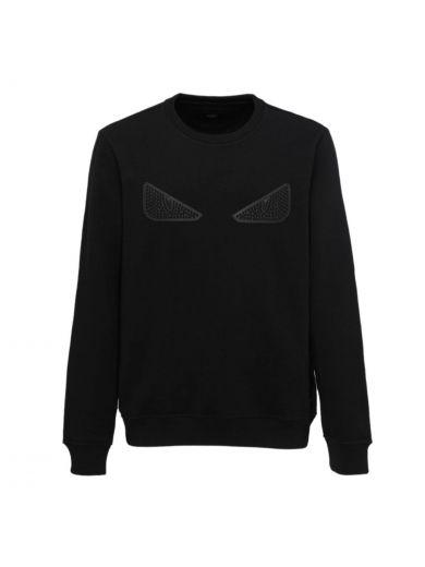Fendi Cottons Fendi Eye Studs Sweatshirt