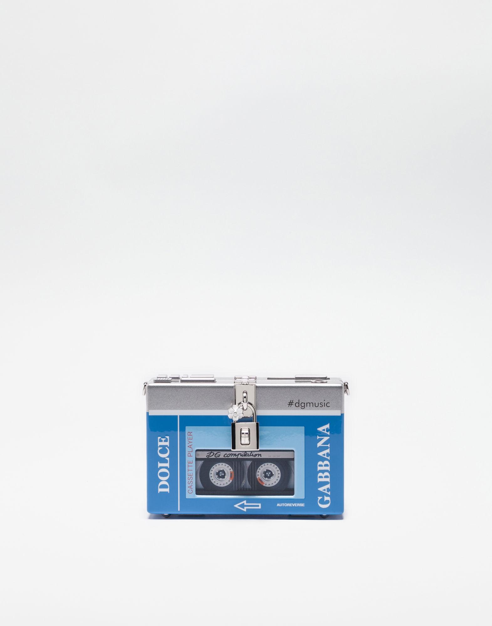 Blue & Silver Walkman Box Clutch