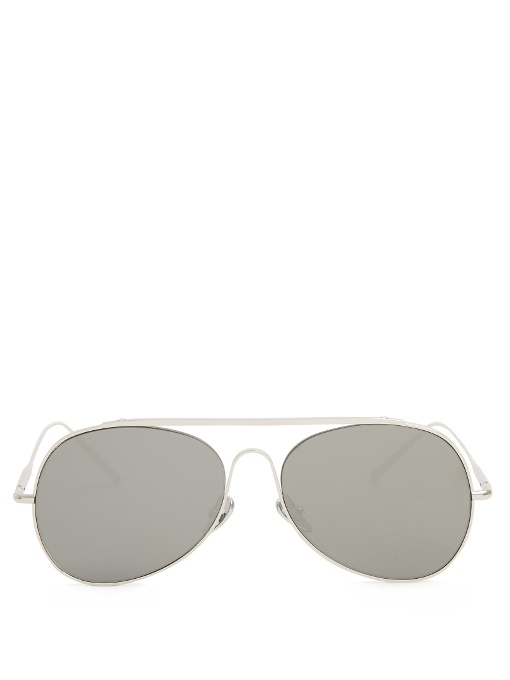 ACNE STUDIOS Spitfire Large Sunglasses in Colour: Silver