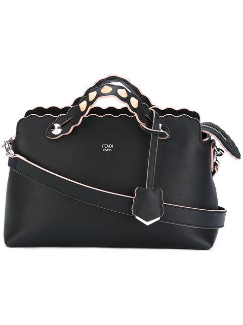 FENDI Large By The Way Bowling Bag in Blu Notte+Palladio|Blu