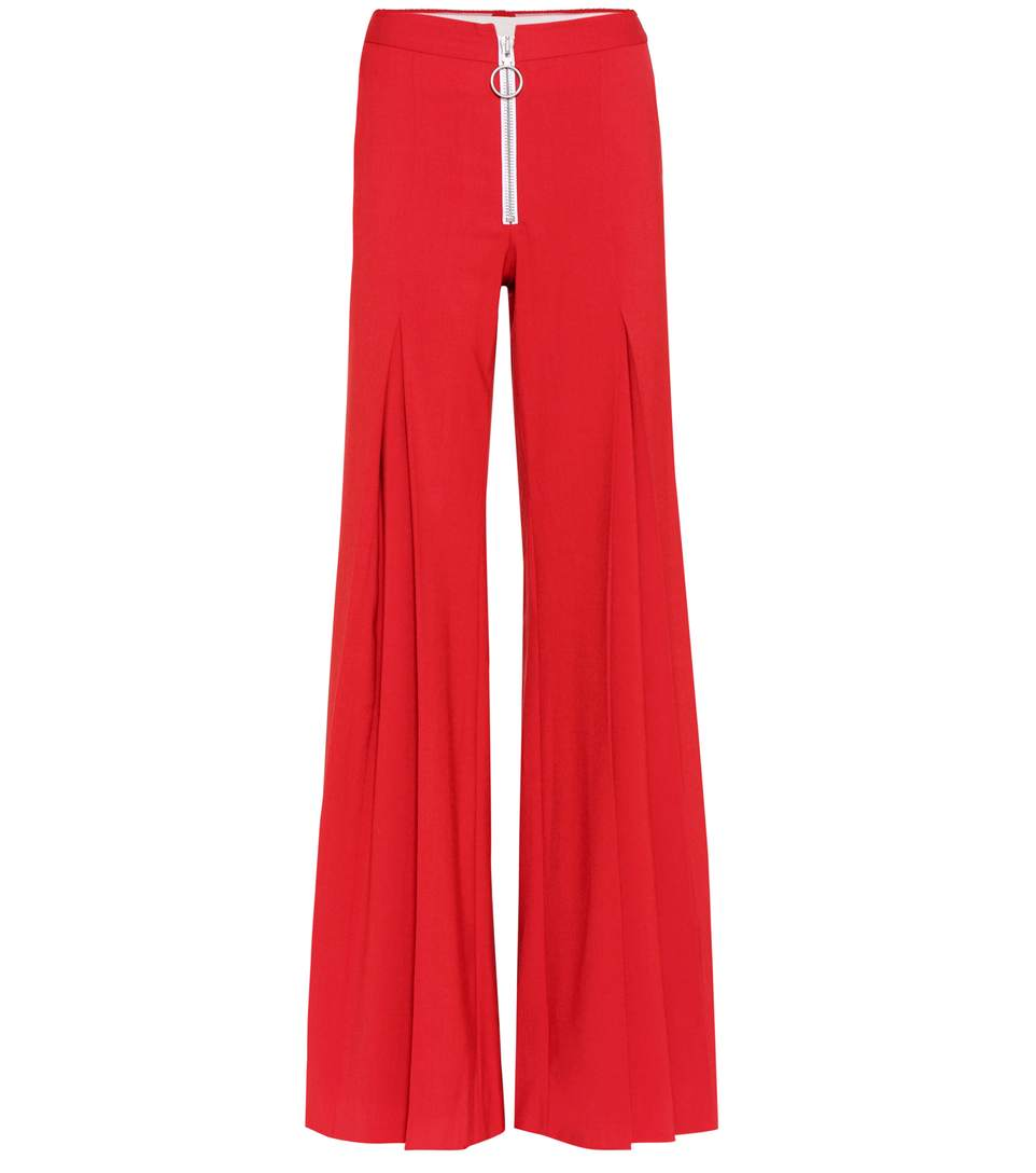 CENTRAL PLEAT WOOL-BLEND TROUSERS