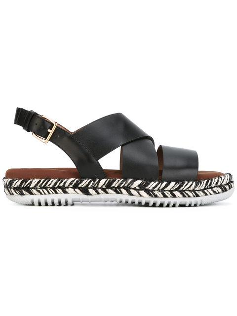 MARNI Platform Sandals in Black