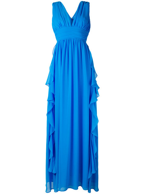 FRILL PLUNGE GOWN