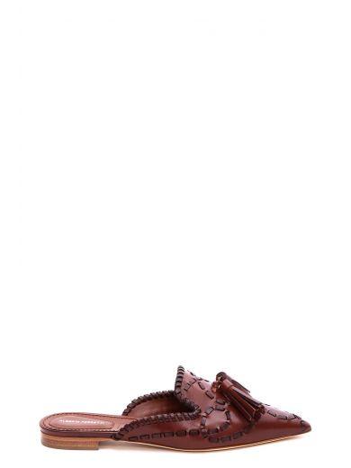 ALBERTA FERRETTI Tassel Detail Pointed Mules in 98