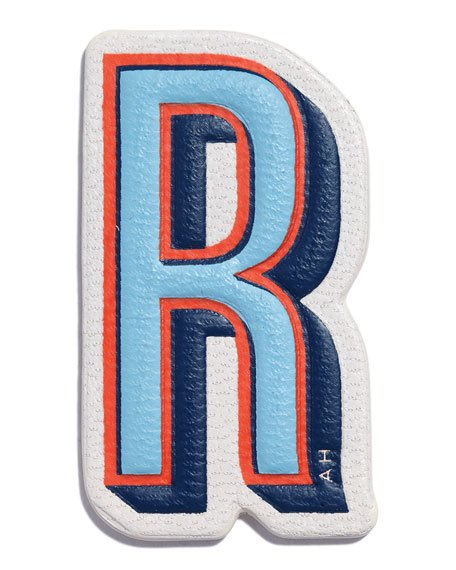 """R"" LEATHER STICKER FOR HANDBAG"