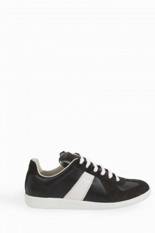 MAISON MARTIN MARGIELA Black & White Replica Sneakers