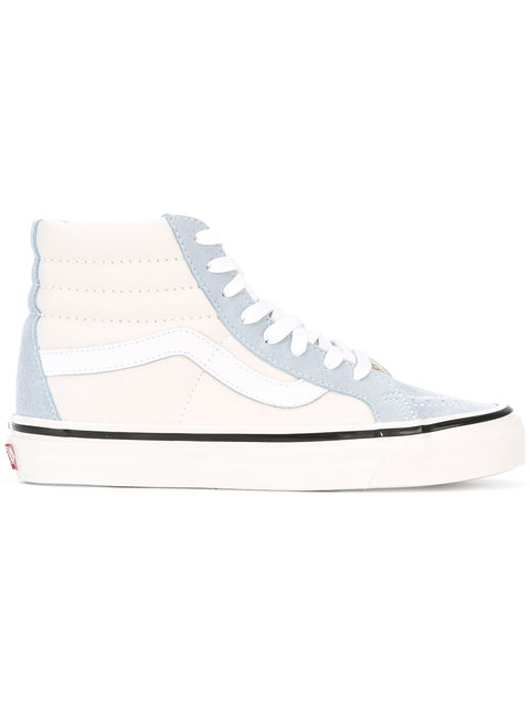 Blue White Sk8 Hi 38 DX Trainers