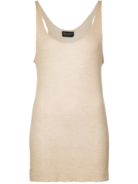 BAJA EAST LONG KNITTED TOP, SAND