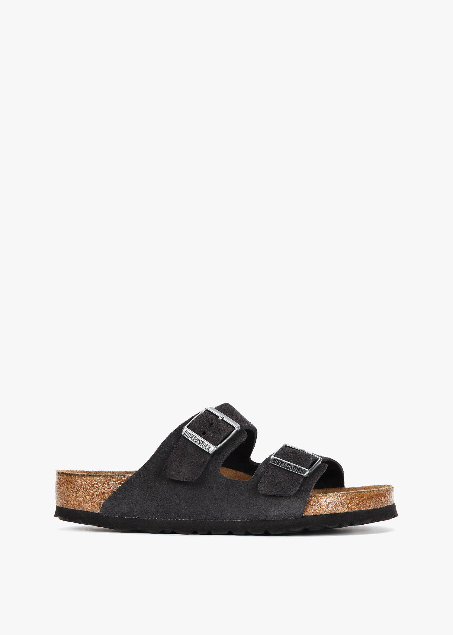Birkenstock Black Nappa Leather Double Bands Sandal With