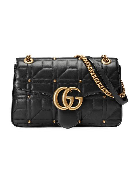 Gucci Gg Marmont 2.0 Imitation Pearl Logo Matelasse