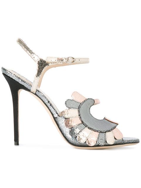 Paula Cademartori Metallic Strappy Sandals