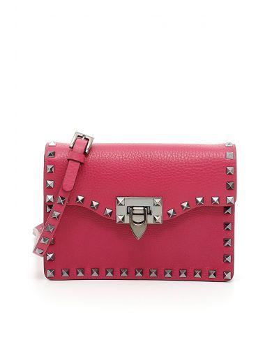 VALENTINO Rockstud Shoulder Bag in Deep Cyclamin|Rosa