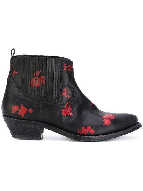 floral detail boots