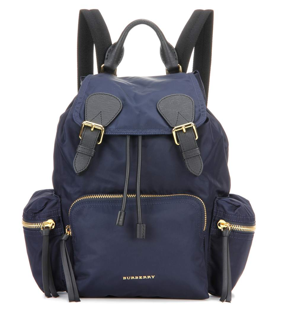 LEATHER AND FABRIC RUCKSACK BACKPACK