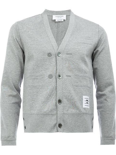 Thom Browne v-neck embroidered cardigan