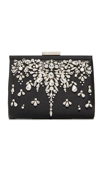 ADELE FRAME CLUTCH - BLACK