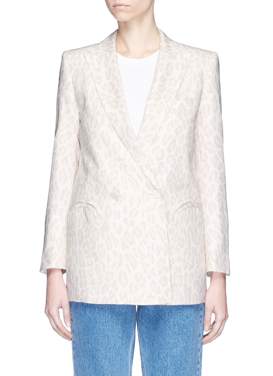 Blazé Milano 'Everyday Varenne Summer' leopard print silk blazer