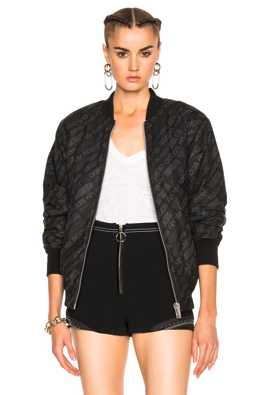 Reversible fleece and jacquard bomber jacket