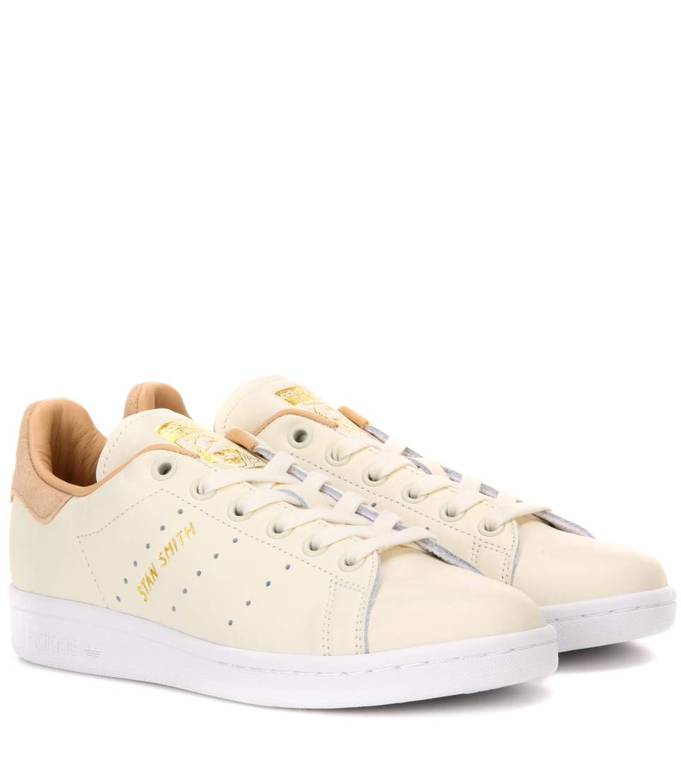Stan Smith Leather Sneakers with Suede