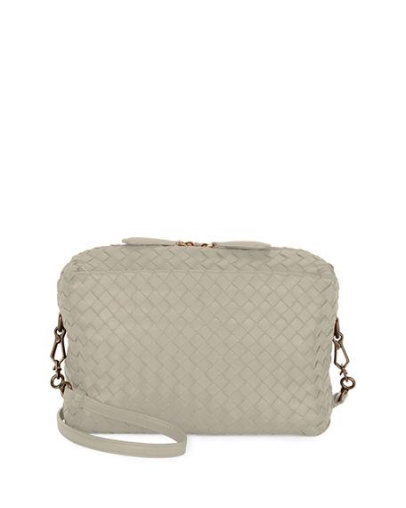 Bottega Veneta Shoulder bags SMALL INTRECCIATO CAMERA BAG, LIGHT GRAY