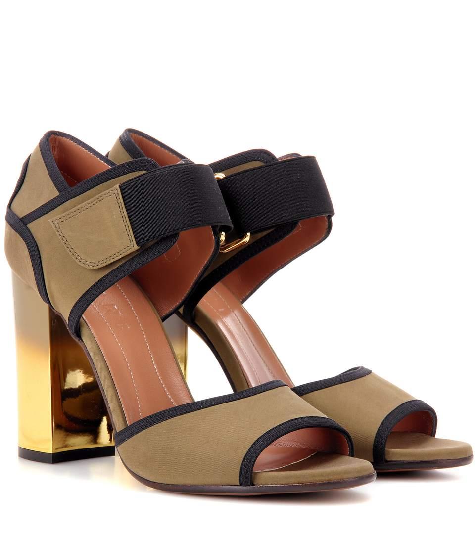 Ombré heel technical sandals