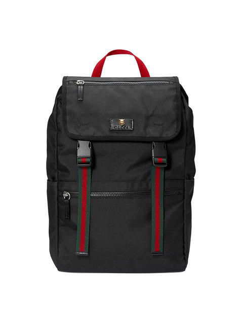 Technical canvas backpack